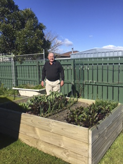 Bob Neill in his garden