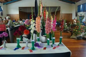 Flowers for the summer show prize winners table